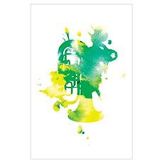 Paint Splat Tuba Poster