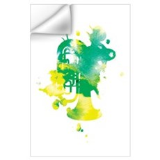 Paint Splat Tuba Wall Decal