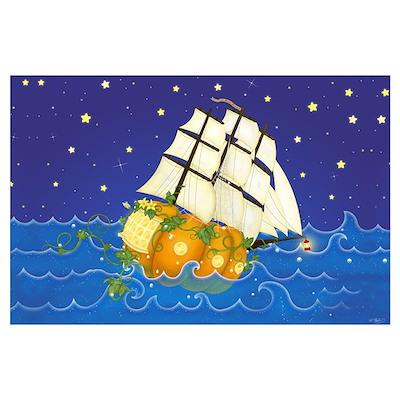 Pumpkin Fairy Ship Poster