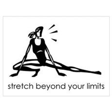 stretch beyond your limits Framed Print
