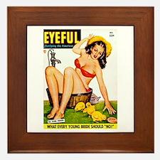Eyeful Bathing Farm Beauty Girl Framed Tile