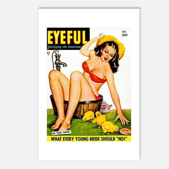 Eyeful Bathing Farm Beauty Girl Postcards (Package