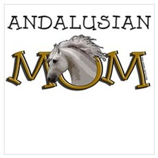 Andalusian Mom. Horse Mother. Canvas Art
