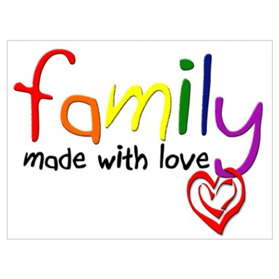 Gay Family Love Poster