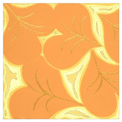 Peach Lilly Heart Pads Poster