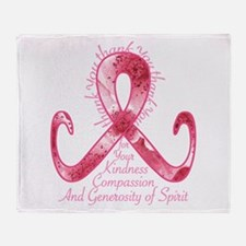 Pink Thank You Throw Blanket