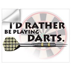 I'd rather be playing darts! Wall Decal