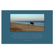 Horse & Dog Friend Print Poster