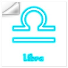 Libra Neon Wall Decal