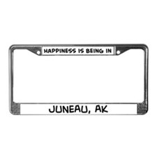 Happiness is Juneau License Plate Frame