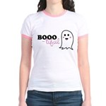 Boo-tiful Ghost Jr. Ringer T-Shirt