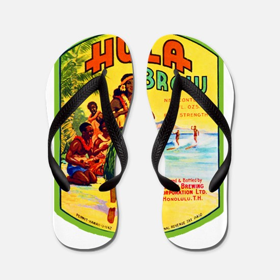 Hawaii Beer Label 2 Flip Flops