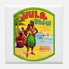 Hawaii Beer Label 2 Tile Coaster