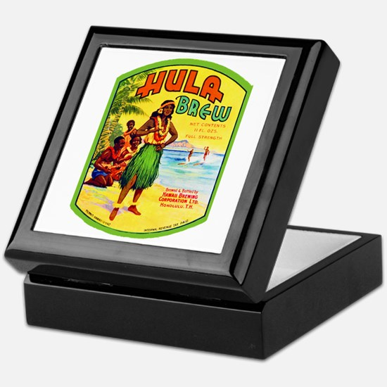 Hawaii Beer Label 2 Keepsake Box