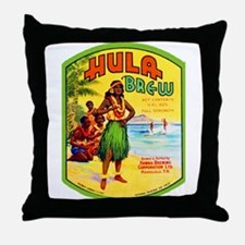 Hawaii Beer Label 2 Throw Pillow