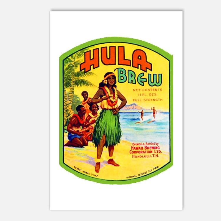 Hawaii Beer Label 2 Postcards (Package of 8)