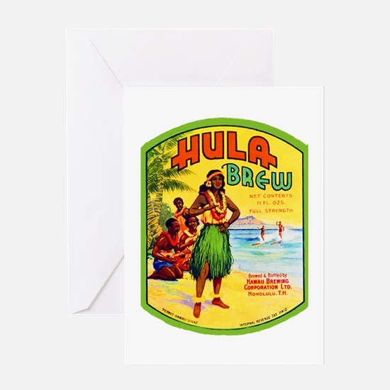 Hawaii Beer Label 2 Greeting Card