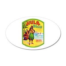 Hawaii Beer Label 2 22x14 Oval Wall Peel