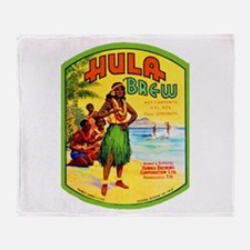Hawaii Beer Label 2 Throw Blanket