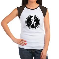 Female Runner Women's Cap Sleeve T-Shirt