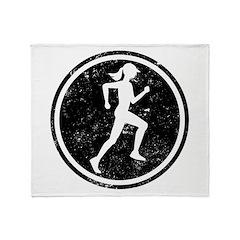 Female Runner Throw Blanket