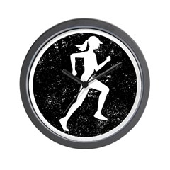 Female Runner Wall Clock