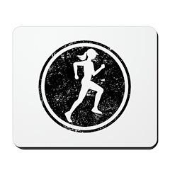 Female Runner Mousepad