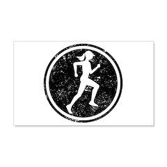 Female Runner 22x14 Wall Peel
