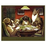 Dogs playing poker Wrapped Canvas Art