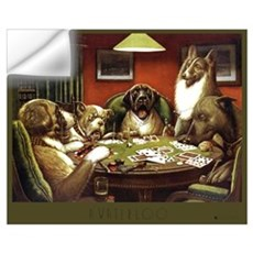 A Waterloo Dog Poker Wall Decal