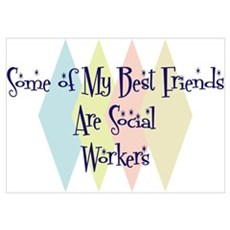 Social Workers Friends Poster