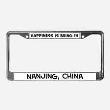 Happiness is Nanjing License Plate Frame