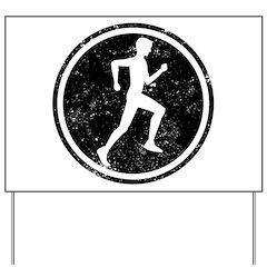 Male Runner Yard Sign