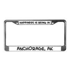 Happiness is Anchorage License Plate Frame