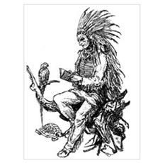 Native American Reader Poster