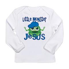 Little Monster Jesus Long Sleeve Infant T-Shirt
