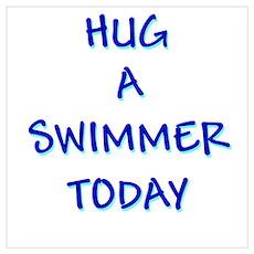 Hug a Swimmer Poster
