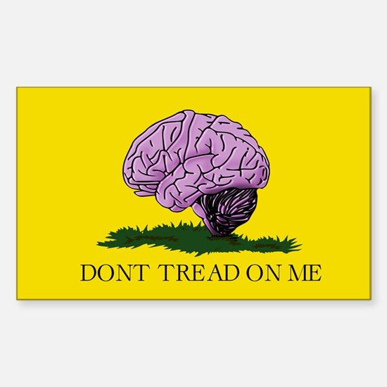 Don't Tread on Me, Sticker (Rectangle)