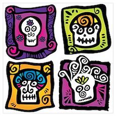 Day of the Dead Sugar Skulls Poster