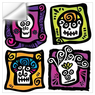 Day of the Dead Sugar Skulls Wall Decal