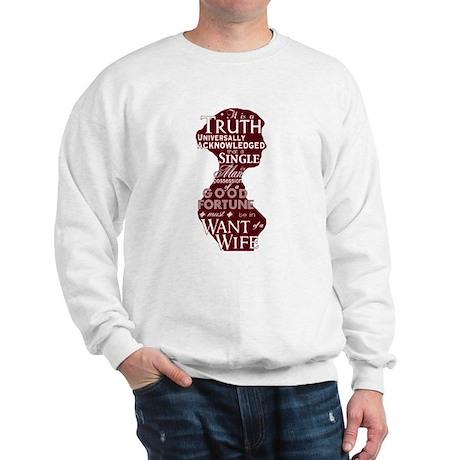 Jane Austen Quote (F/B) Sweatshirt