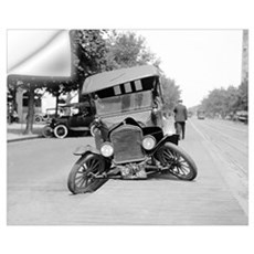 Crashed Ford Model T, 1922 Wall Decal