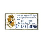 Bourbon St Tile Mural Aluminum License Plate