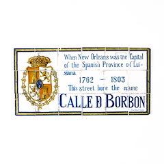 Bourbon St Tile Mural Aluminum License Plate