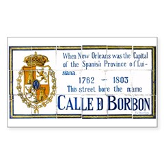 Bourbon St Tile Mural Sticker (Rectangle 10 pk)