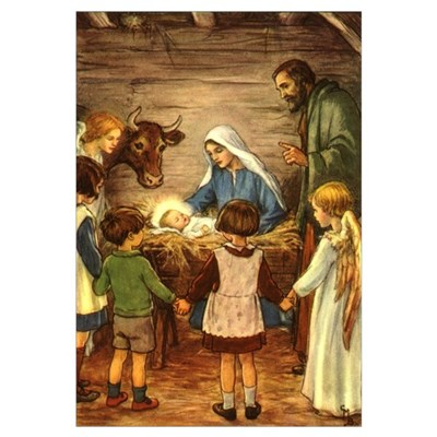 Nativity Scene Canvas Art