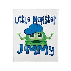 Little Monster Jimmy Throw Blanket