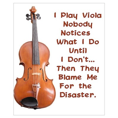 I Play Viola Poster