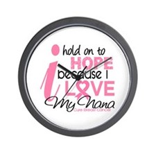 Hope For My Breast Cancer Wall Clock