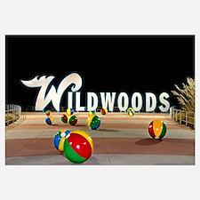 Wildwoods Sign in Wildwood, New Jersey